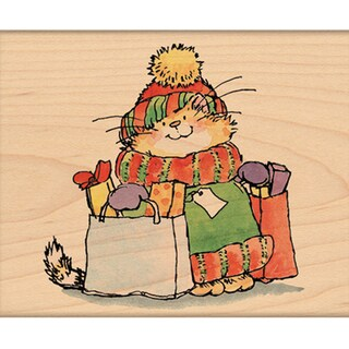 "Penny Black Mounted Rubber Stamp 3.5""X3.5""-Holiday Shopper"