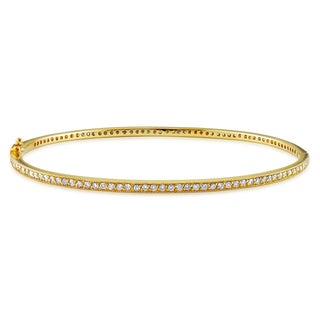 Miadora 14k Yellow Gold 1 1/6ct TDW Diamond Bangle (G-H, I1-I2)