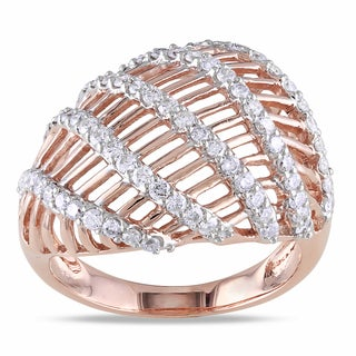 Miadora 14k Two-Tone Gold 3/4ct TDW Diamond Ring (G-H, SI1-SI2)