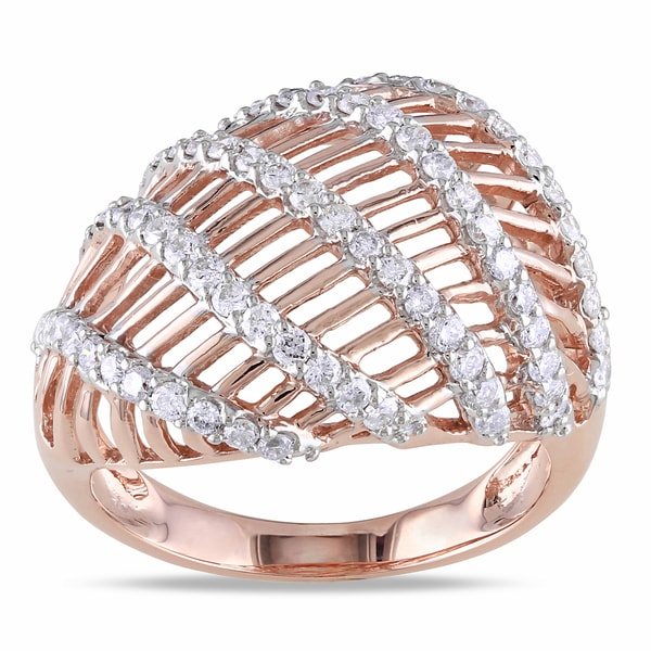 Miadora 14k Rose Gold 3/4ct TDW Diamond Ring (G-H, SI1-SI2)