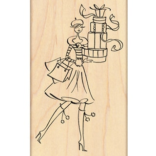 "Penny Black Mounted Rubber Stamp 2.5""X4""-Gift Tower"