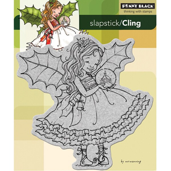 Penny Black Cling Rubber Stamp 5X6 Fairy Holly