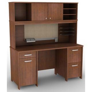 Bush Furniture Envoy Collection Double Pedestal Desk And