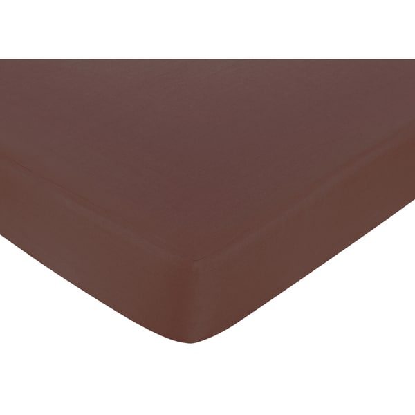 Sweet JoJo Designs Deco Dot Chocolate Brown Fitted Crib Sheet