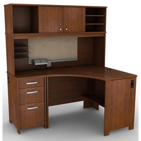 Bush Furniture Envoy Collection Corner Desk Suite