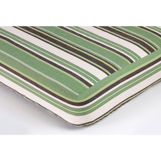 Sweet JoJo Designs Green and Brown Striped Crib Sheet