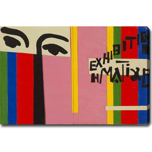 Henri Matisse 'Design for Cover of Exhibition Catalogue' Gallery-wrapped Canvas Art