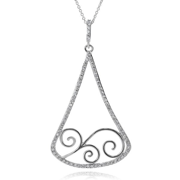 Journee Collection Sterling Silver Cubic Zirconia Filigree Pendant