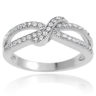Tressa Sterling Silver Cubic Zirconia Bow Ring