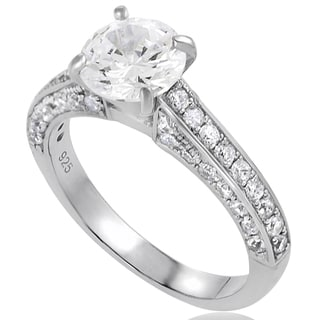 Tressa Sterling Silver CZ Round Bridal Ring