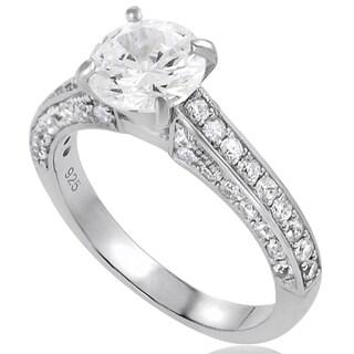 Tressa Sterling Silver CZ Round Bridal Ring