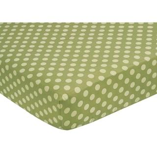 Sweet JoJo Designs Green Dots Fitted Crib Sheet