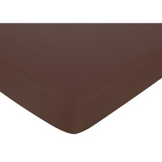 Sweet JoJo Designs Chocolate Fitted Crib Sheet