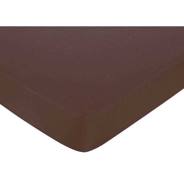 Sweet JoJo Designs Chocolate Fitted Crib Sheet