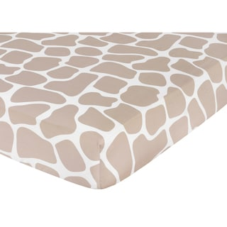 Sweet JoJo Designs Giraffe Print Fitted Crib Sheet