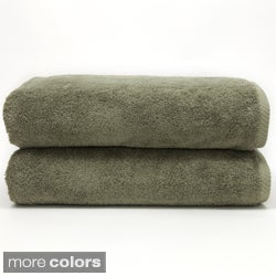 Authentic Plush Soft Twist Hotel and Spa Turkish Cotton Bath Towels (Set of 2)
