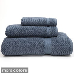 Authentic Herringbone Weave Hotel and Spa Turkish Cotton 3-piece Bath Set