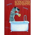 Ken Bailey 'Schnauzer Bath Salts' Unframed Print Art