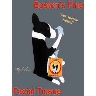 Ken Bailey 'Boston Facial Tissue' Unframed Print Art