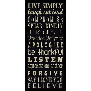 Live Simply-Black Paper Print (Unframed)