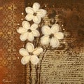 Irena Orlov 'Bouqet Of White Flowers I' Unframed Print Art