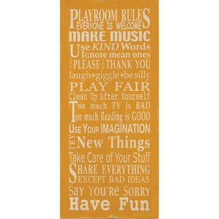 Barn Owl Primitives 'Playroom Rules' Unframed Print Art