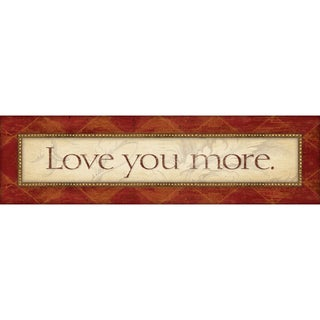 Stephanie Marrott 'Love You More' Unframed Print Art