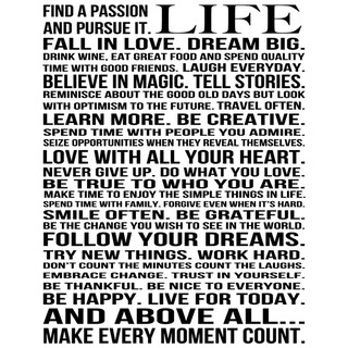 Louise Carey 'This Is Your Life' Motivational Unframed Print Art