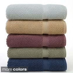 Authentic Herringbone Weave Hotel and Spa Turkish Cotton 2-pc Bath Towel Set