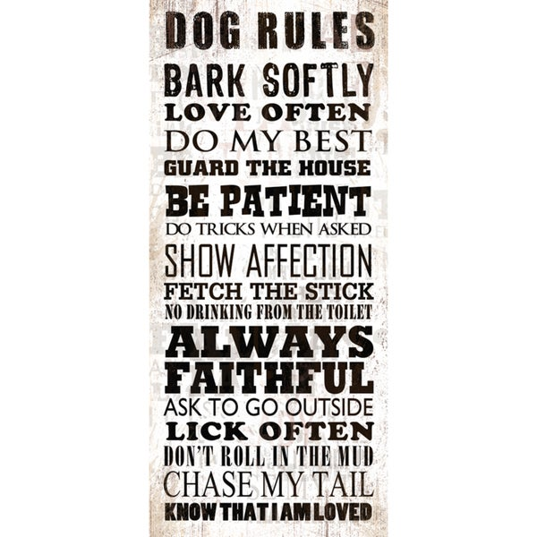 Dog Rules Paper Print (Unframed)