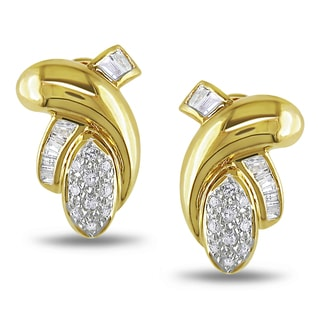 Miadora 14k Yellow Gold 3/8ct TDW Diamond Knot Earrings (H-I, SI2)