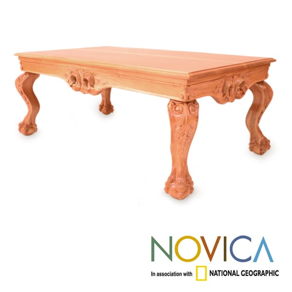 Handcrafted Cedar Wood 'Mexican Renaissance' Coffee Table (Mexico)
