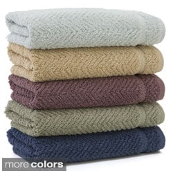 Authentic Herringbone Weave Hotel and Spa Turkish Cotton Hand Towels (set of 4)
