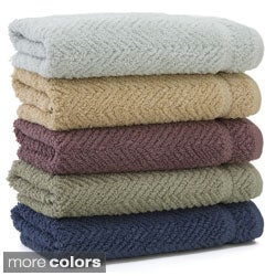 Authentic Herringbone Weave Hotel and Spa Turkish Cotton 4-pc Hand Towel Set