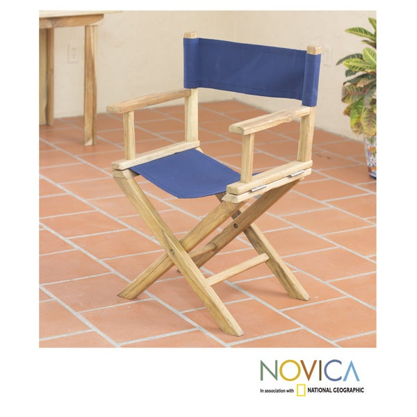 Handcrafted Teakwood 'Mexican Sierra' Folding Acrylic Chair (Mexico)