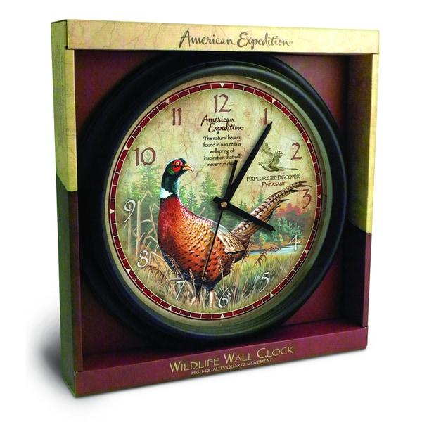 American Expedition Pheasant Wall Clock