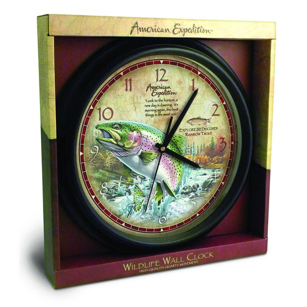 American Expedition Rainbow Trout Wall Clock