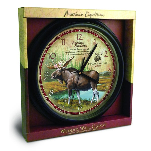 American Expedition Moose Wall Clock
