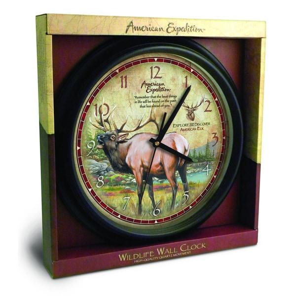 American Expedition 16-inch Elk Wall Clock