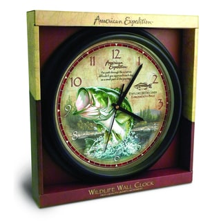 American Expedition Largemouth Bass Wall Clock