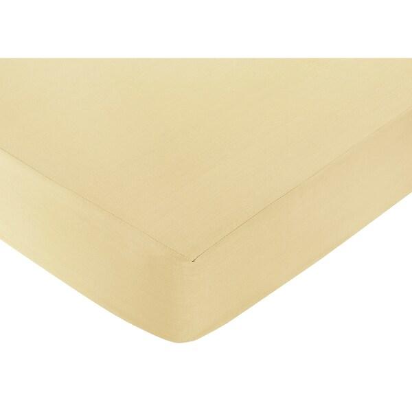 Sweet JoJo Designs Yellow Fitted Crib Sheet