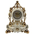 Italian-style Buomo White and Goldtone Table Clock