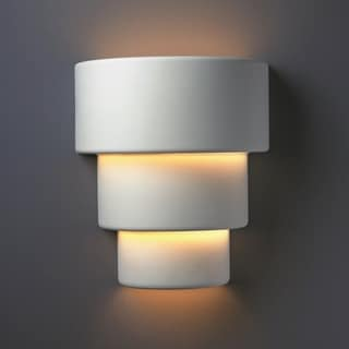 Justice Design Group 2-light Terrace Ceramic Bisque Wall Sconce