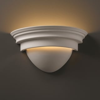 1-light Classic Ceramic Bisque Wall Sconce