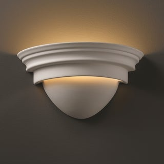 Justice Design Group 1-light Classic Ceramic Bisque Wall Sconce