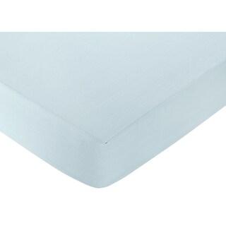 Sweet JoJo Designs Blue Fitted Crib Sheet