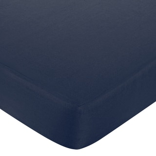 Sweet JoJo Designs Hotel Solid Navy Fitted Crib Sheet