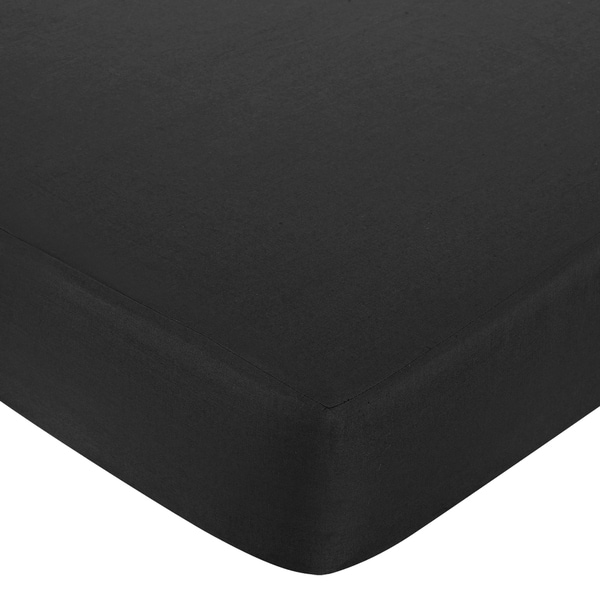 Sweet JoJo Designs Fitted Baby/ Toddler Crib Sheet for Black, Pink and White Isabella Bedding Collection