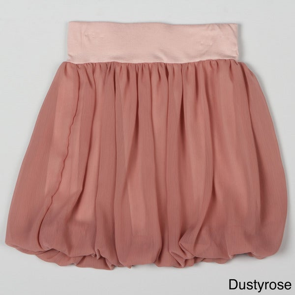 Paulinie Collection Girl's Chiffon Bubble Skirt