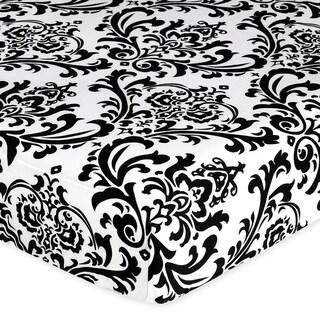 Sweet JoJo Designs Damask Fitted Crib Sheet